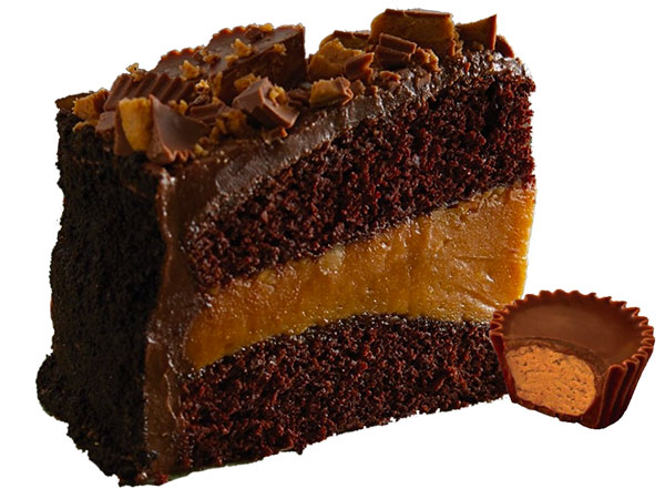 CHOCOLATE PEANUT BUTTER CAKE WITH REESE'S CUPS thumbnail